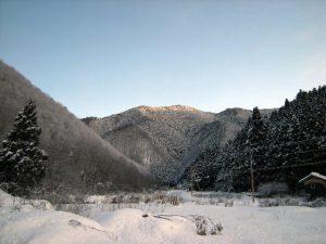 雪景色(事務所から北を望む)